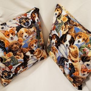 Dog/Puppy Covered Pillows- Set of 2